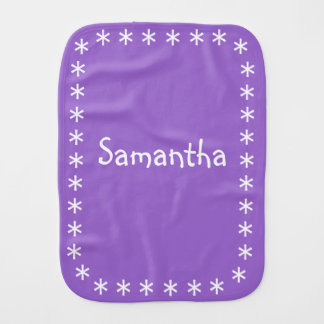 Color Burp Cloth For Baby Girl Amethyst Purple