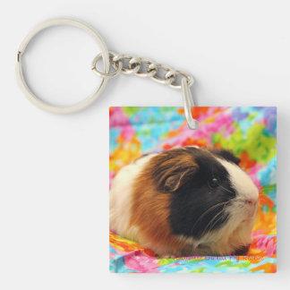 Color Burst Guinea Pig Keychain