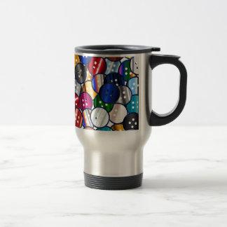 Color Button Collection Travel Mug