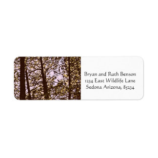 Color by the trees return address label