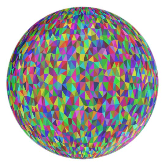 COLOR CALEIDOSCOPE GEOMETRIC DESIGN, DISCO PLATE
