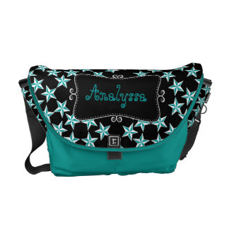 Color Changing Stars Monogrammed Courier Bags