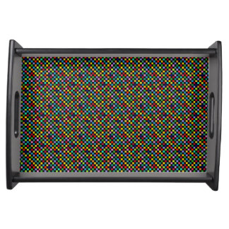 color checkered pattern serving platters