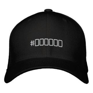 Color code black embroidered hat