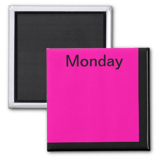 Color Code Day of Week Magnet Calendar Visual Tool
