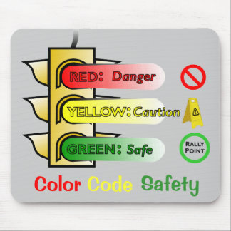 Color Code Safety Mouse Pad
