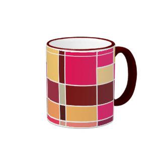 Color Composition v2 Ringer Coffee Mug