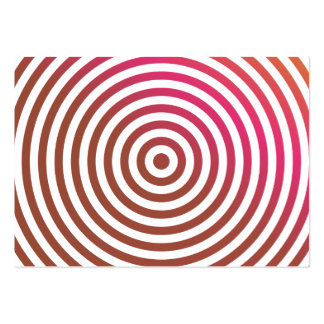Color concentric circles business card