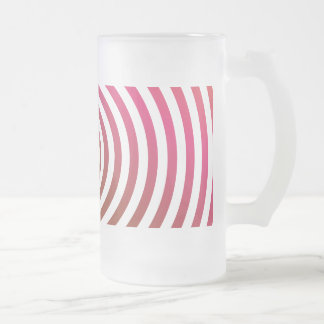 Color concentric circles beer mugs