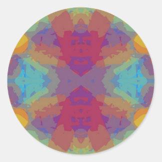 Color Crazy Round Sticker
