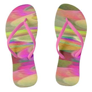 Color Desert Flip Flops