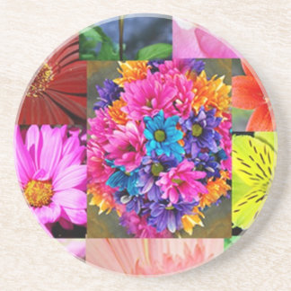 Color Display of flowers Coaster