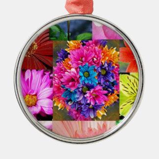 Color Display of flowers Metal Ornament