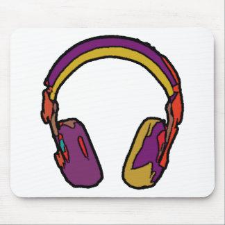 color dj headphone mouse pad