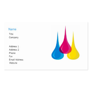 Color Droplets Business Card Template