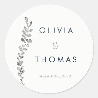 Color Editable Silver Leaf Sticker, Favor Sticker