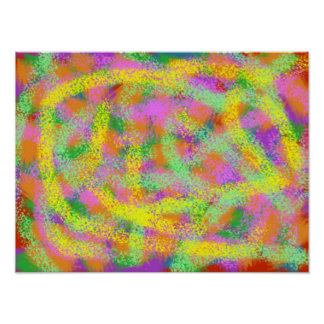 Color Everywhere Abstract Digital Art Poster