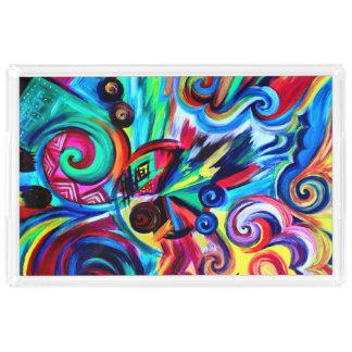 Color Explosion Acrylic Tray