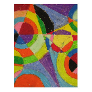 Color Explosion by Robert Delaunay Postcard
