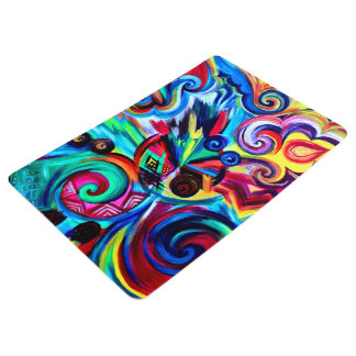 Color Explosion Floor Mat