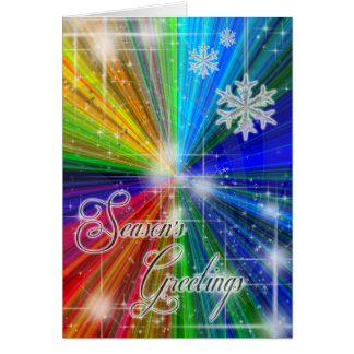 Color Explosion Holiday Card