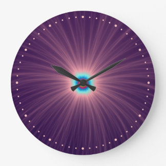 Color Explosion in Purple Wall Clock