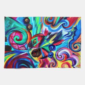Color Explosion Tea Towel