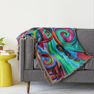 Color Explosion Throw Blanket