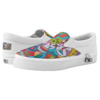 Color Eye Candy Zipz Slip On Shoes 101 Printed Shoes