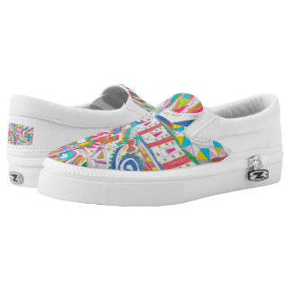 Color Eye Candy Zipz Slip On Shoes 102 Printed Shoes