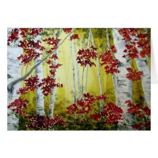 Color Fall Colors Card