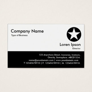 Color Footer - Black - Star Business Card