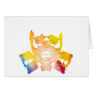 Color gas mask card