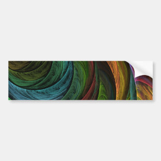 Color Glory Abstract Art Bumper Sticker
