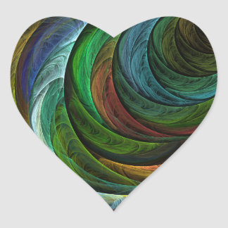 Color Glory Abstract Art Heart Sticker