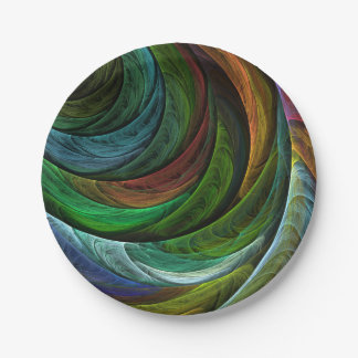 Color Glory Abstract Art Paper Plate