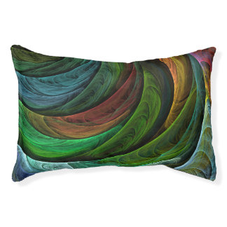 Color Glory Abstract Art Pet Bed