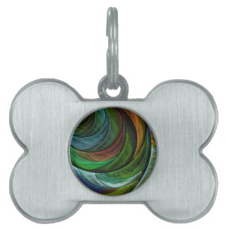 Color Glory Abstract Art Pet Tag