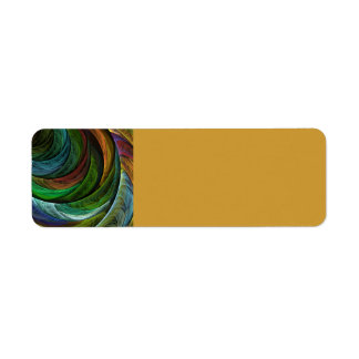 Color Glory Abstract Art Return Address Label
