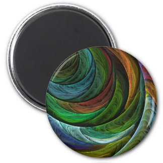 Color Glory Abstract Art Round Magnet