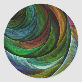 Color Glory Abstract Art Round Sticker