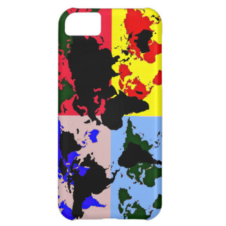 color graphic world map iPhone 5C case