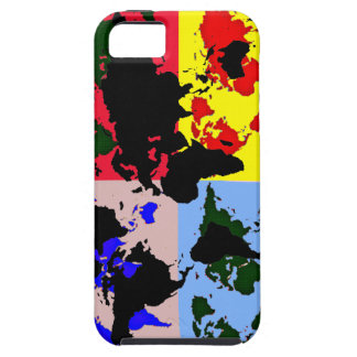 color graphic world map iPhone 5 cover