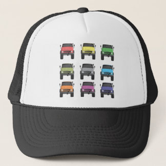 Color Grid Unimog Trucker Hat