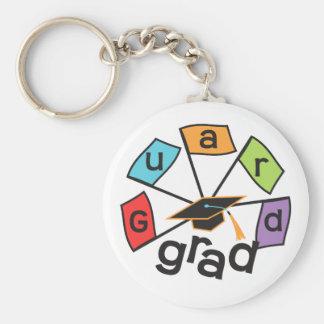 Color Guard Graduate - Graduation Colorful Flags Key Ring