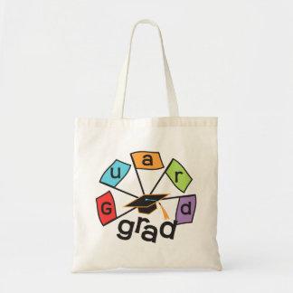 Color Guard Graduate - Graduation Colorful Flags Budget Tote Bag