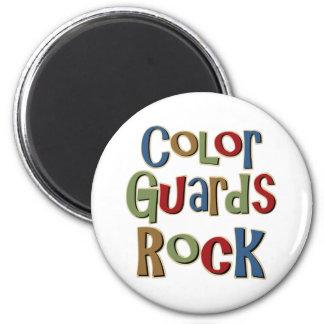 Color Guards Rock 6 Cm Round Magnet