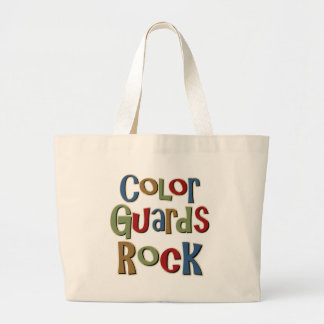 Color Guards Rock Large Tote Bag