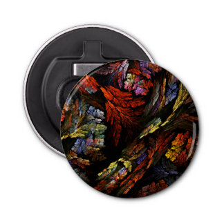 Color Harmony Abstract Art Button