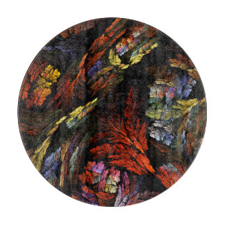 Color Harmony Abstract Art Circle Cutting Board